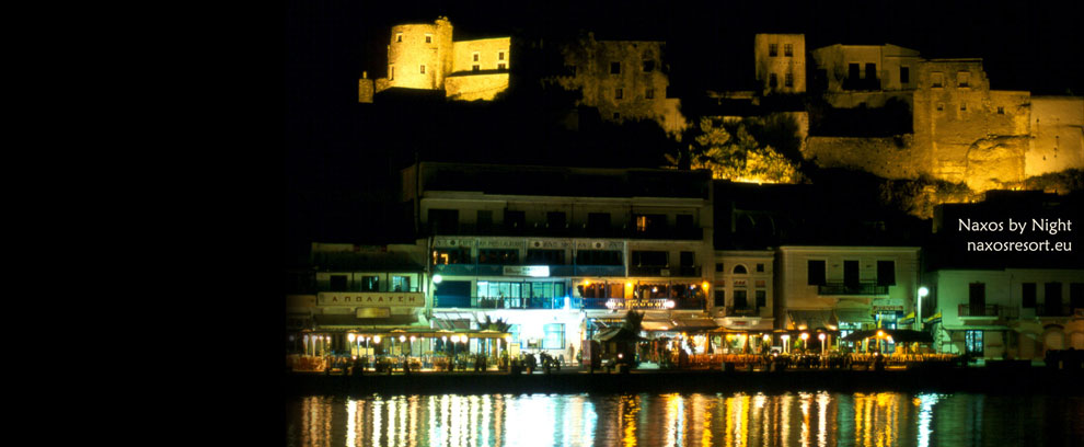 Naxos by night